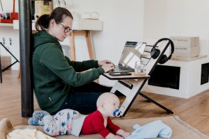 working from home remote childcare