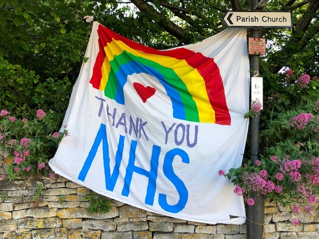 Thank you NHS banner
